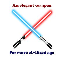 Lightsaber Civilized Photographic Print