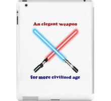 Lightsaber Civilized iPad Case/Skin