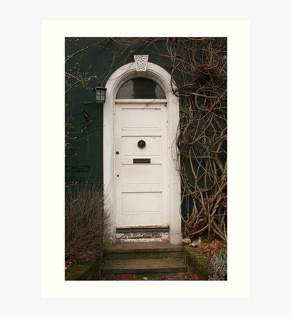 green house door, surrey, uk Art Print