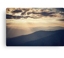 Sunset in the Great Smoky Mountains Canvas Print