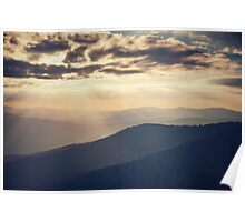 Sunset in the Great Smoky Mountains Poster