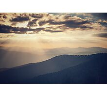 Sunset in the Great Smoky Mountains Photographic Print