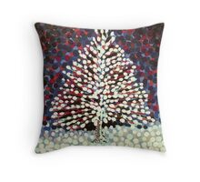 The Snow Tree Throw Pillow