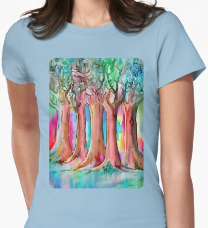 Dream Forest Womens Fitted T-Shirt