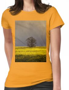 Threatening sky Womens Fitted T-Shirt
