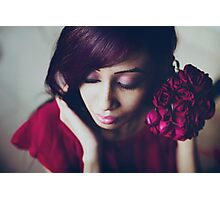 portrait with roses Photographic Print