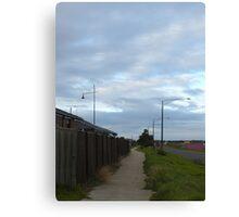 Cloudy Morning Walkway Canvas Print