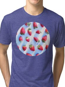 Sunset Strawberries Tri-blend T-Shirt