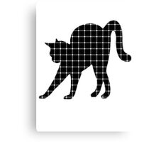 Black Cat Optical Illusion Effect Canvas Print