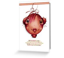 Little Profiles Vintage Bauble Greeting Card
