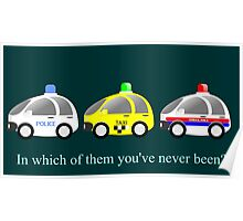 Cars funny police, taxi and rescue a funny question Poster