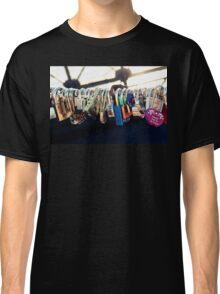 NEW YORK - Brooklyn Bridge Love Locks Classic T-Shirt