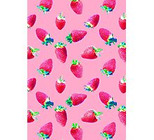 Pink Strawberry Pop Photographic Print
