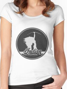 VINTAGE INDIAN MOTOCYCLE DESIGN Women's Fitted Scoop T-Shirt