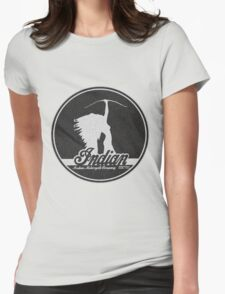VINTAGE INDIAN MOTOCYCLE DESIGN Womens Fitted T-Shirt