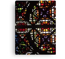 Stain Glass Ceiling Canvas Print