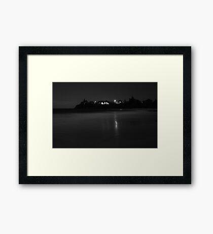 Tilbury Cove At Night Framed Print