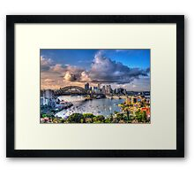 Arrival - Moods of a City - The HDR Experience Framed Print