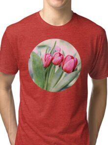 Twilight Tulips Tri-blend T-Shirt
