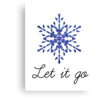 Let it go Canvas Print