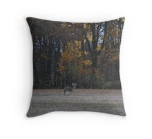 The Last Stroll Before Hunting Season Throw Pillow