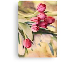 Vintage Tulips Canvas Print
