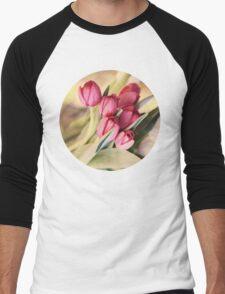 Vintage Tulips Men's Baseball ¾ T-Shirt