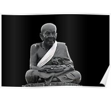 Statue series. Old man sitting Poster