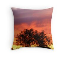 Fire in the New Mexico Sky Throw Pillow