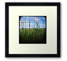 Through the Viewfinder and Fence Framed Print