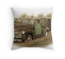 Two Old Trucks Throw Pillow