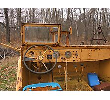 Stering wheel of Old Diger Photographic Print