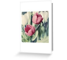 Twin Tulips in Pastel Pink Greeting Card