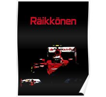 Kimi Raikkonen; Ferrari 2015 Poster