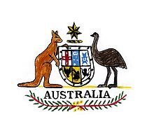 AUSTRALIA Coat of Arms by Paperscratchers