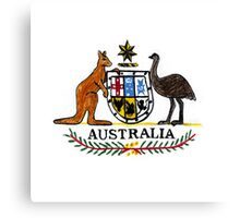 AUSTRALIA Coat of Arms Canvas Print