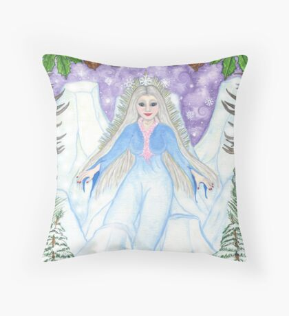 Ice Queen Throw Pillow