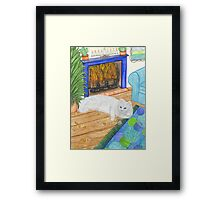 Kindle Cat Framed Print