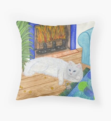 Kindle Cat Throw Pillow