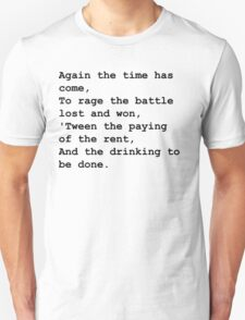 The drinking to be done - Black T-Shirt