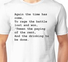 The drinking to be done - Black Unisex T-Shirt