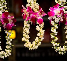 Jasmine garlands in Little India by jenheal