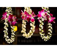 Jasmine garlands in Little India Photographic Print