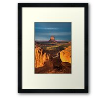 As the Sun sets. Framed Print