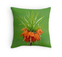 Orange, Crown Victorian Lilly Throw Pillow