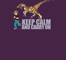(Dino) Keep Calm and Carry On Unisex T-Shirt