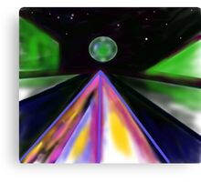 Space Highway Canvas Print