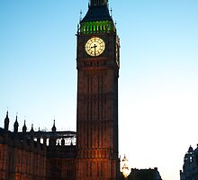 The Clock Tower of the Palace of Westminster by Mark Prior