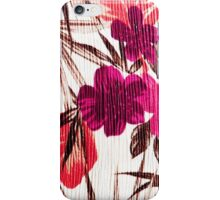 Abstract colorful pink red brown floral pattern iPhone Case/Skin