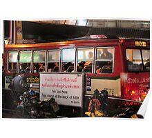 Bangkok street scene night 2 Poster